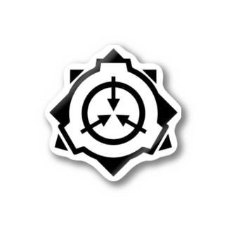 SCP財団ロゴグッズ-シンプル黒[SCP Foundation] ブランケット Stickers
