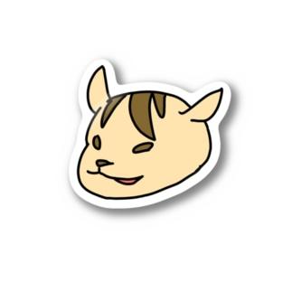 にやりと笑う振り向きリス Stickers