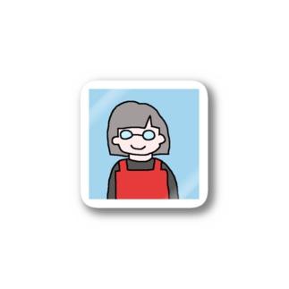らいむぎばあさんステッカー Stickers