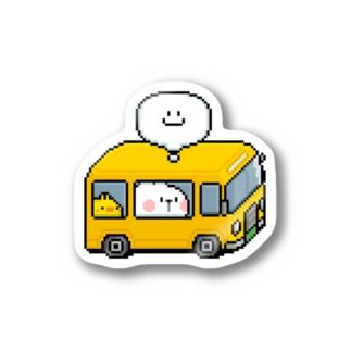 Spoiled Rabbit - Pixel Bus / あまえんぼうさちゃん -ドットアートバス ステッカー