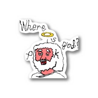 Peek the future / where is god? Stickers