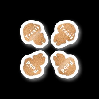 『レモンのれ』SUZURI店の【1シート4枚 ラベルステッカー】コルク調のトイプードル♡ステッカー