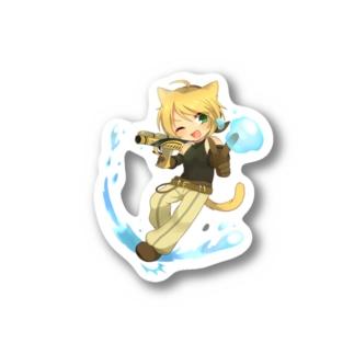 レオンのウォータースプラッシュ Stickers