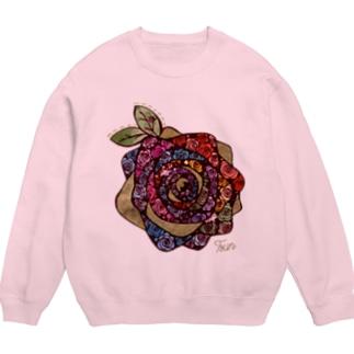 虹色と光輝く温かな色とこの薔薇から溢れる想い Sweats