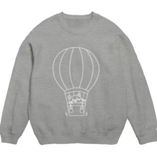 シバコロまる・気球(線画:白バージョン) Sweats