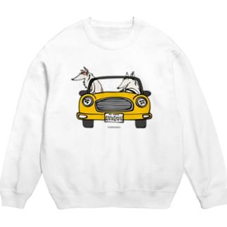 ボルゾイ ドライブ 黄色い車 Sweats