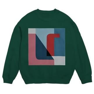 Geometric Letter series - Berry Mint 'U' Sweat