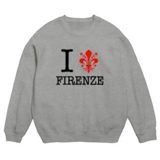 I LOVE FIRENZE アイ ラブ フィレンツェ、 イタリア フィレンツェの紋章 百合の紋章 Il giglio di Firenze FIRENZE フィレンツェ イタリア フローレンス イタリア Sweats