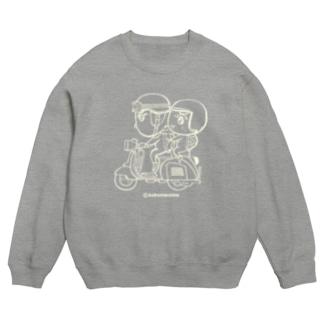 mixbo shopのカッパつ野郎(スクーター白) Sweats
