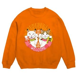 Lucky cats 〜ニ升五合〜 ※濃色用デザイン Sweats