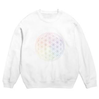 フラワーオブライフ(rainbow) Sweats