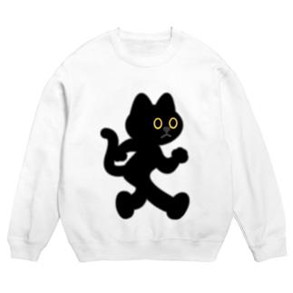 飛び出し坊や猫 黒猫 Sweats