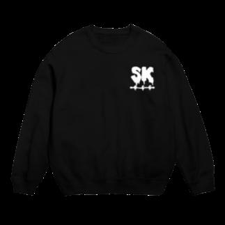 SK Strikethrough(666)のSK Strikethrough(666) Clothing - First Line Black Sweats