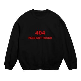 404 - NOT FOUND(黒フチver) Sweats