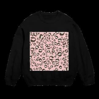 イラストレーター yasijunのひょう柄猫ちゃんピンク Sweats