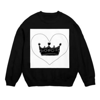 王冠👑ブラックver Sweats