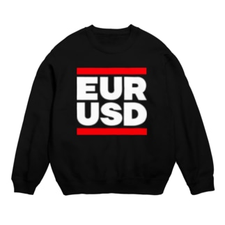 ユロドル ユーロドル EURUSD FX 為替 両替 RUNDMC風 白字白フォント 白字の文字なのでカラーは黒色がオススメです 白色ですと文字が分かりません Sweats