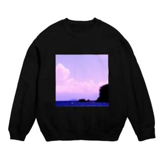 手描きのエトセトラのピンクの世界(空と海と島) Sweat