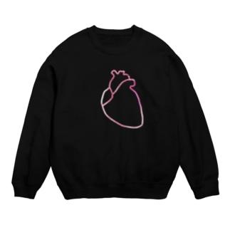 シンプルな心臓。 薄い赤/アルミ Sweats