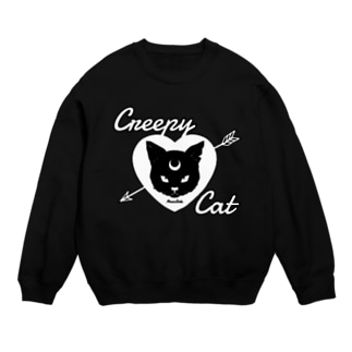 【MOON SIDE】 Creepy Cat #Black Ver.2 Sweats
