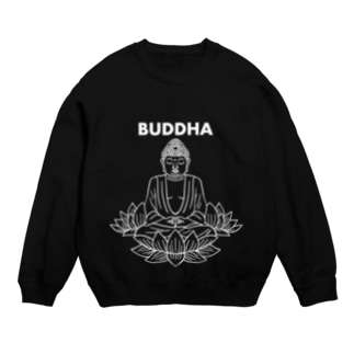 BUDDHA-仏像- 白ロゴ Sweat
