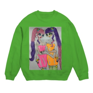 neon dressed girls Sweats