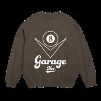 8garage SUZURI SHOPの8garageロゴ V8 White スウェット