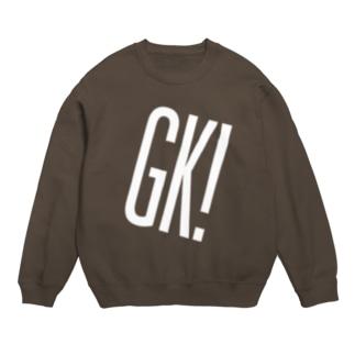 GK!ロゴ(白) Sweats