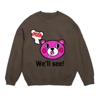 モクモックマ飴ちゃんフェイス ピンク Sweats