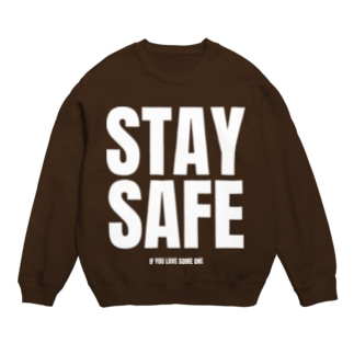 STAY SAFE IF YOU LOVE SOME ONE / ホワイトプリント フロント Sweat