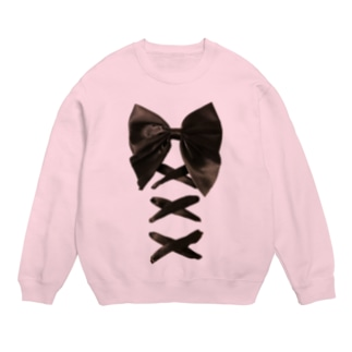 Black Butterfly Laced-up Ribbon Sweats