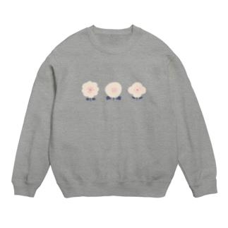 3つのお花( ピンク ) Sweats