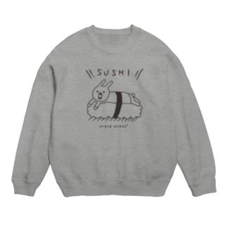 ウサギのウーのSUSHI [黒い字] スウェット
