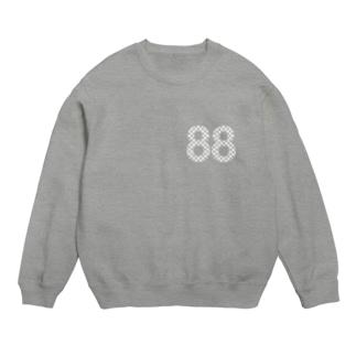 88白ロゴ スウェット