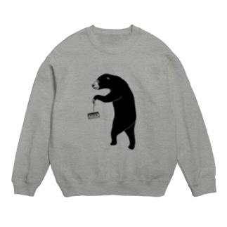 愉快なマレーグマ 4 クマ動物イラスト スウェット