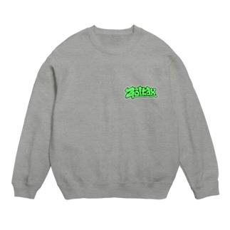 Zoltax. グラフィティ ロゴ ライトグリーン Sweats