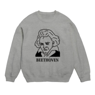 ベートーベン BEETHOVEN イラスト 音楽家 偉人アート ストリートファッション Sweats