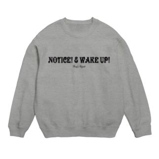 NOTICE! & WAKE UP!(BLACK) Sweats