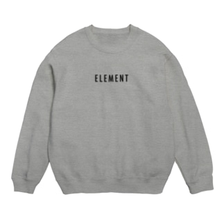 ELEMENT ブラックロゴ アパレル Sweats