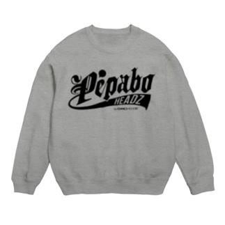PEPABO HEADZ Black Logo Sweats