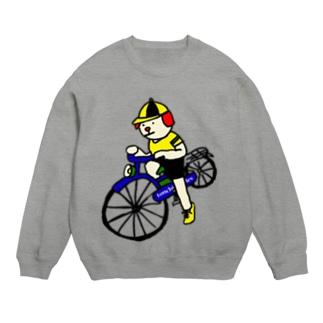 ウクちゃんと自転車 スウェット