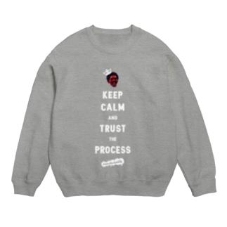 TRUST THE PROCESS -white- Sweats