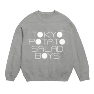東京ポテトサラダボーイズ公式ネオクラシック(白)ロゴ スウェット
