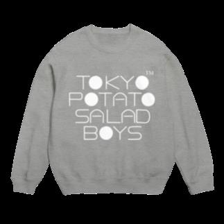 東京ポテトサラダボーイズ公式ショップの東京ポテトサラダボーイズ公式ネオクラシック(白)ロゴ Sweats