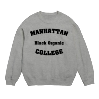 MANHATTAN Black Organic COLLEGE Sweats