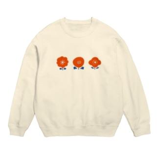 3つのお花( 赤 ) Sweats