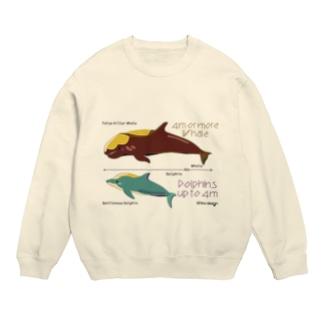 イルカとクジラの大きさ スウェット