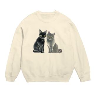 ステンシル 猫 duo Sweats
