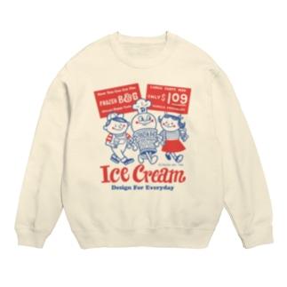 アイスクリームBoy&Girl☆アメリカンレトロ スウェット