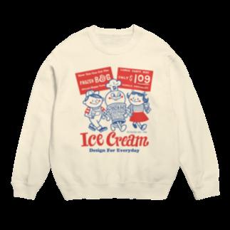 Design For EverydayのアイスクリームBoy&Girl☆アメリカンレトロ Sweats